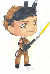 David the Chibi Ghostbuster by The-11th-Doctor