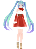 Tda Christmas Miku 2k15 by MajesticFork