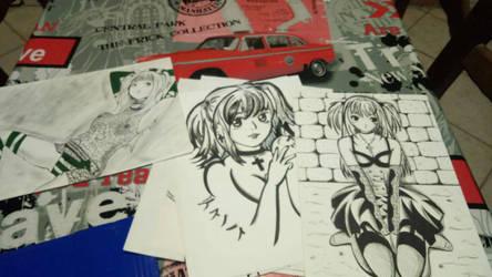 Misa Amane drawings by GiuseppeIlSanto