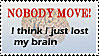 where's my brain? stamp by Filmchild