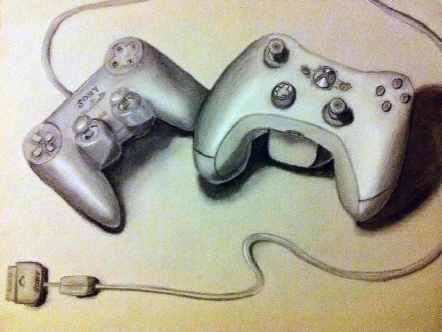 Playstation and Xbox by shadwgrl