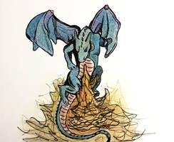 Fire Breathing Dragon - Color by shadwgrl