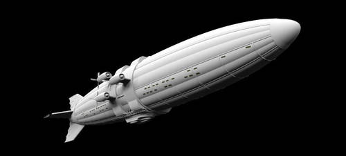 Steampunk Airship - Drakkonen - WIP by illuminatus-shadow