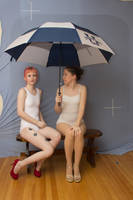 Senshistock collab: sitting with umbrella 2 by Sinned-angel-stock