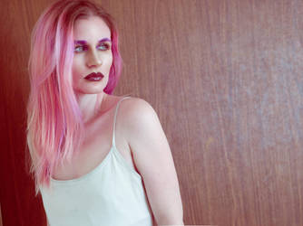 Pink hair 1 by Sinned-angel-stock