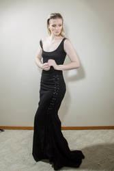 Black dress by Sinned-angel-stock
