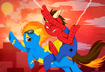 Spider-Mane VS Spitfire: Race Through Manehattan by Jamal2504