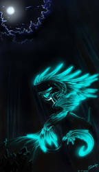 under the moon by Nightwing-Kain
