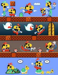 Mario Print by JustinCoffee
