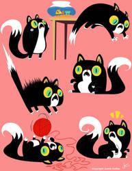 Cat design by JustinCoffee