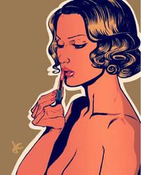 Barbara Bouchet sketch by JustinCoffee