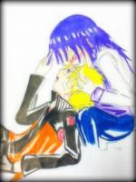 NaruXHina- A kiss on forehead by RinALaw
