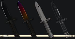 M9 Bayonet 3D Model (Download) by Sweetyn