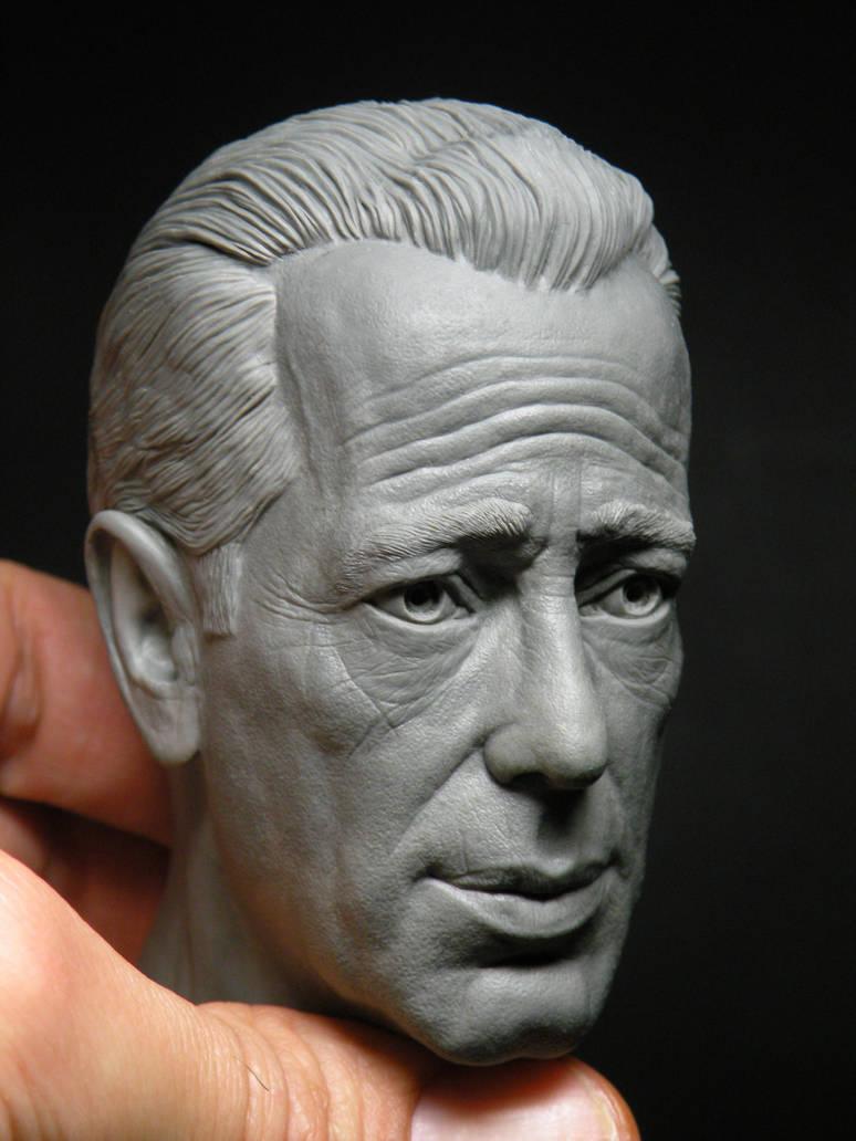 Humphrey Bogart 1/4 scale sculpey work in progress by jesserubin