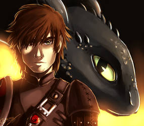 HTTYD - Hiccup and Toothless by Dunklayth