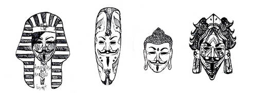 Egypt Africa China Mexico . We Are Anonymous by Seraphoid