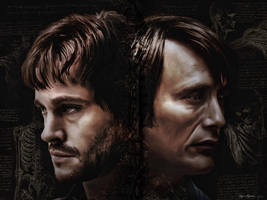 Will Graham and Hannibal Lecter - Nerve Endings by thecannibalfactory