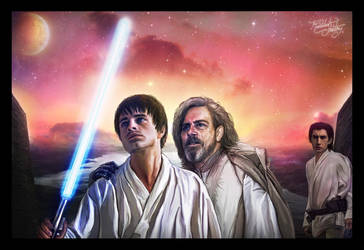 Sebastian Stan and Mark Hamill - A Star Wars Story by thecannibalfactory