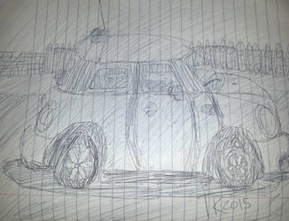 Car Sketch - 1-6-2015 by tylerkeylost