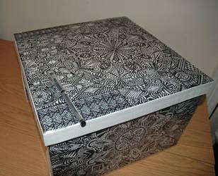 Large hand drawn storage box by kodapops