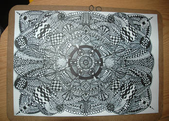 Large A3 sized free hand doodle by kodapops