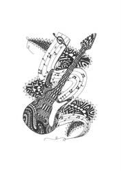 Guitar doodle by kodapops