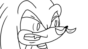 Knuckles Getting Mad At A Mustache Under His Nose by Stolken