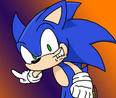Sonic Running Forward by Stolken