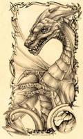 Temple-Dragon by nachtwulf