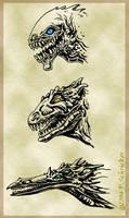 Image Study: Three Dragons by nachtwulf