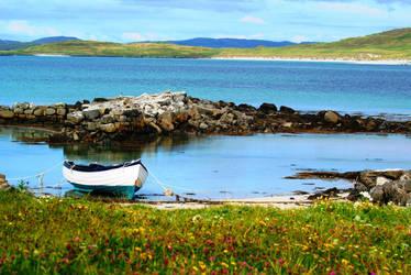 Small Boat, Isle of Barra by tuatha-isles