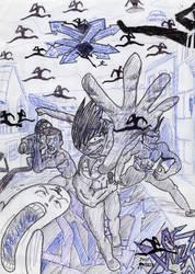 SUZK spinzaku notebook doodles by Prof-ARTCommenter