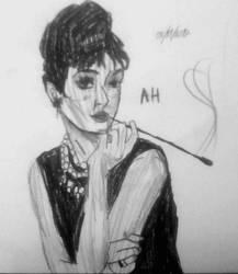 Audrey Hepburn by ValerieThePunkGirl