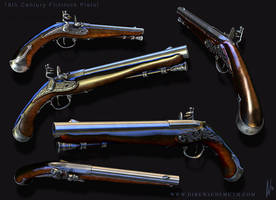18th Century Flintlock Pistol by dirkwachsmuth