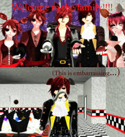 (MMDxFnaf) Welcome to the family!!!! by Isi-Foxy