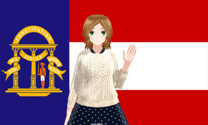 mmd  hetalia Georgia (oc) by girlnephilim90