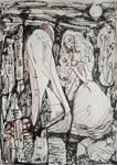 His Broken Wings And The Roses In Her Hair by PeeterOra1