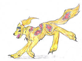 Deidara wolf by KaoriSkywalker