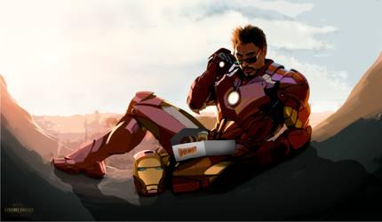 Tony Stark loves donuts by TakeOFFFLy