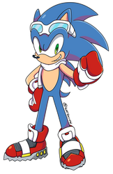 Sonic in Winter Clothes by WaitoChan