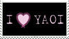 Stamp: I Heart Yaoi_Pink by AJAngelique