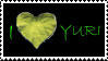 Stamp: I Heart Yuri_Green by AJAngelique
