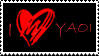 Stamp: I HEart Yaoi_Red by AJAngelique