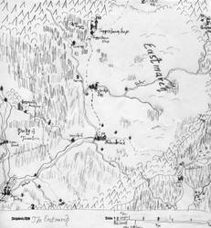 Map of the Eastmarch by yanessa