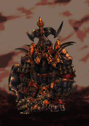 Chaos Dwarf Immortal (2017) Colour study by KnightInFlames