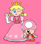 Toadette and Peachette by DreamingWizard2000