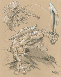 Frog the Barbarian and Friend by Dubisch