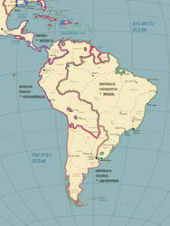 The South American Continent in the Year 1928 by SPARTAN-127