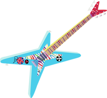 Rainbow Dash Guitar by BlueThunder66