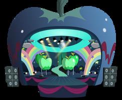 Apple concert stage by BlueThunder66